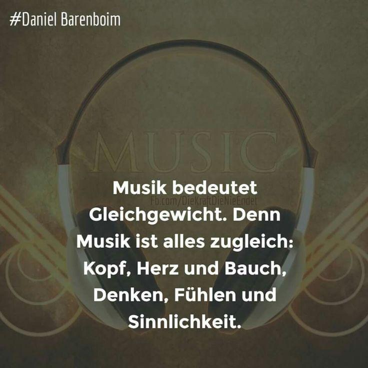 Musik bedeutet Gleichgewicht. Denn Musik ist alles zugleich: Kopf, Herz und Bauch, denken fühlen und Sinnlichkeit.
