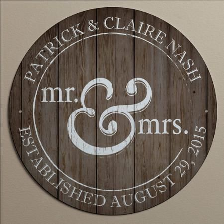 Personalized Mr. and Mrs. Metal Sign - Walmart.com