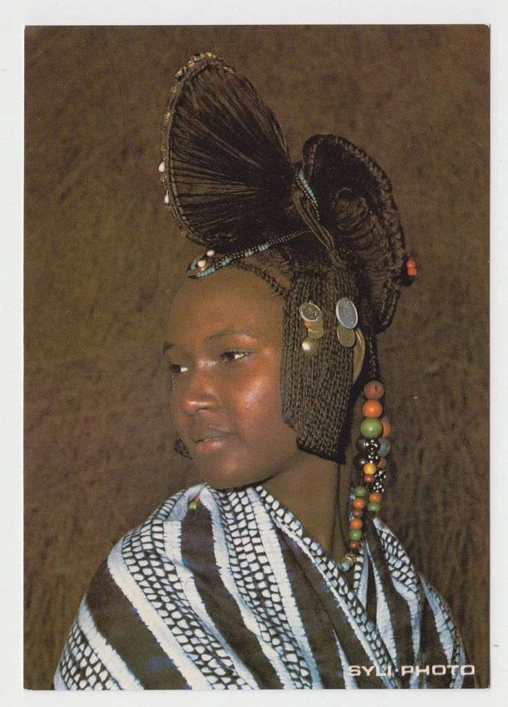 """""""Africa Guinea Native Typical Girl Hairstyle Vintage 1970s Colour Photo PC 2 