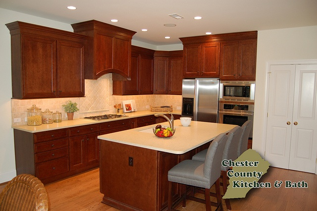 Kitchen In West Chester, PA. Designed By Chester County Kitchen Bath In  West Chester, PA. Perimeter   Fieldstone Cabinetry Tremont Door Style In Mau2026