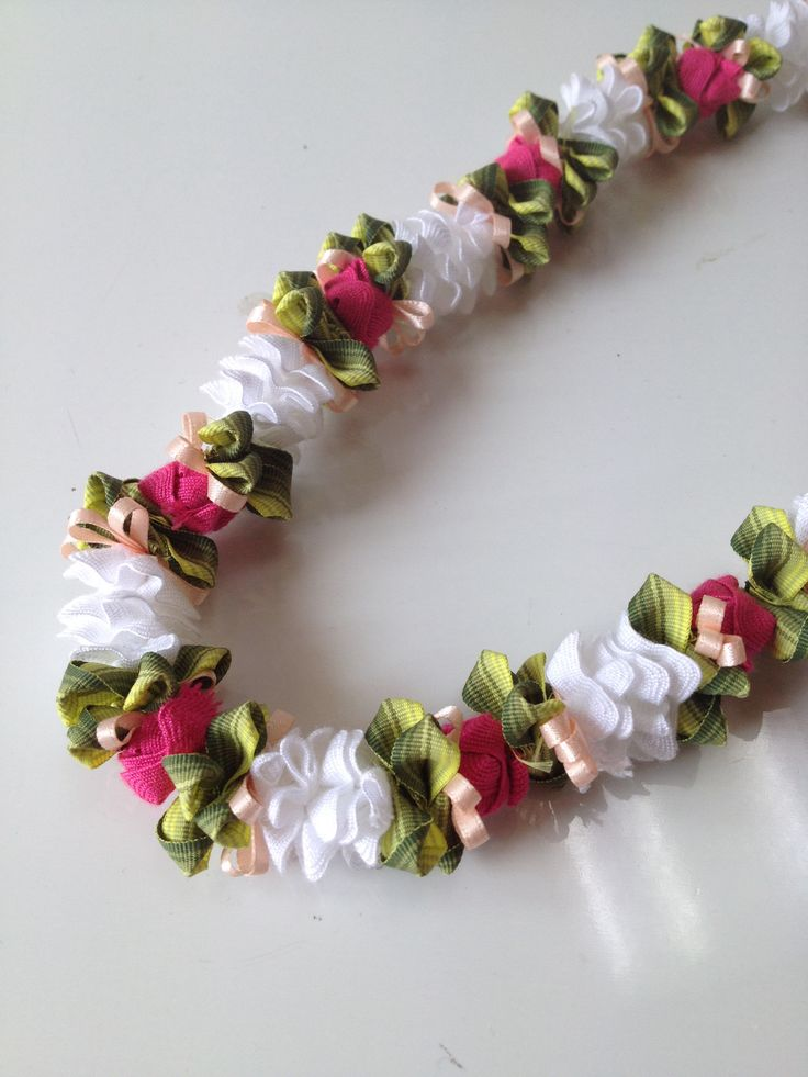 Tuberose with Lokelani (Ribbon lei)