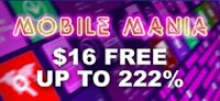 $16 Free plus 222%, 111% and 77% Deposit Mobile Bonuses at Winaday Casino