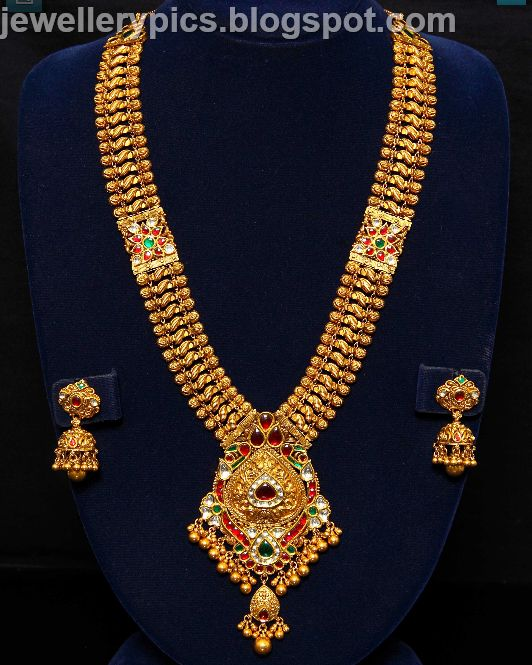 Latest designs of Antique necklaces from vummidi jewellers - Latest Jewellery Designs