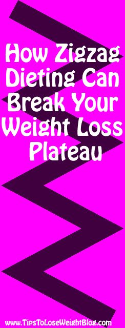 How Zigzag Dieting Can Break Your Weight Loss Plateau! Start losing weight again here: http://www.tipstoloseweightblog.com/weight-loss/how-zigzag-dieting-can-break-your-weight-loss-plateau