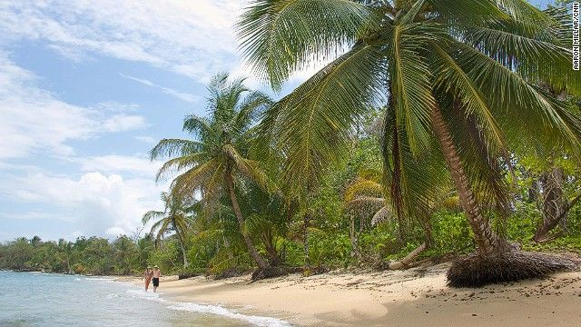 A full-on castaway experience can be had on the outer islands of the Bocos del Toro archipelago, where deserted paradises, like this one at Polo Beach on Bastimentos Island, are wild, undeveloped and easy to find.