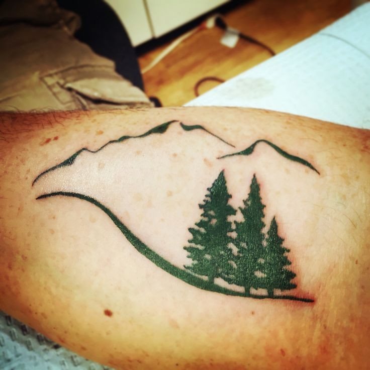 Love my new ink.   #ink #lovemyink #mountains #takeahike #nature #evergreen #tattoos
