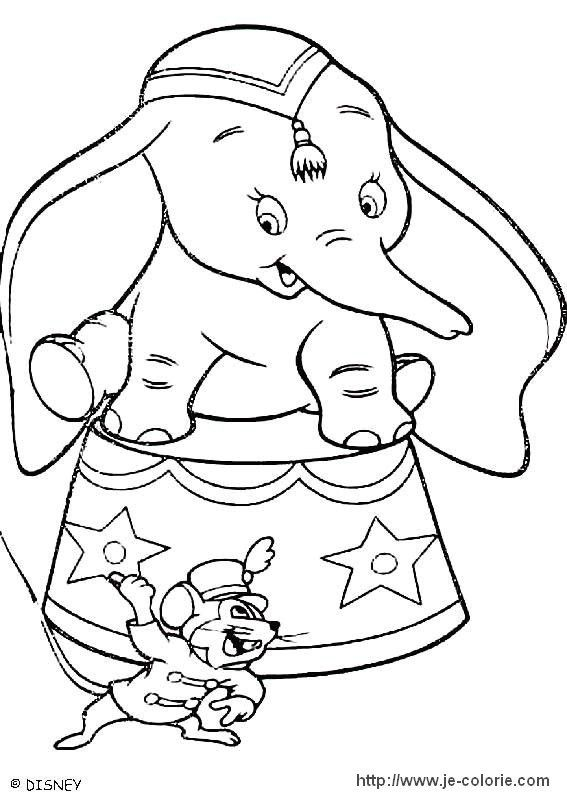 Coloriages Dumbo