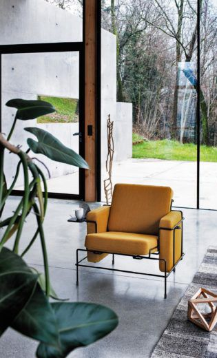 Traffic Armchair with steel frame by   Konstantin Grcic from Magis Design
