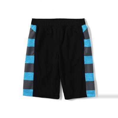 Lands' End Black boys' graphic active shorts | Debenhams