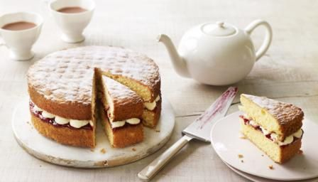 For the final technical challenge Mary Berry asked the bakers to make this simple sponge with homemade jam and buttercream – without a recipe. For this recipe you will need two 20cm/8in sandwich tins, an electric mixer and piping bag fitted with plain nozzle.