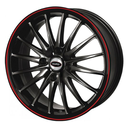TEAM DYNAMICS JET GLOSS BLACK RED LINE alloy wheels with stunning look for 5 studd wheels in GLOSS BLACK RED LINE finish with 17 inch rim size