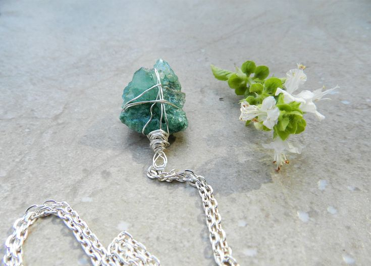 Green Happiness Stone Necklace