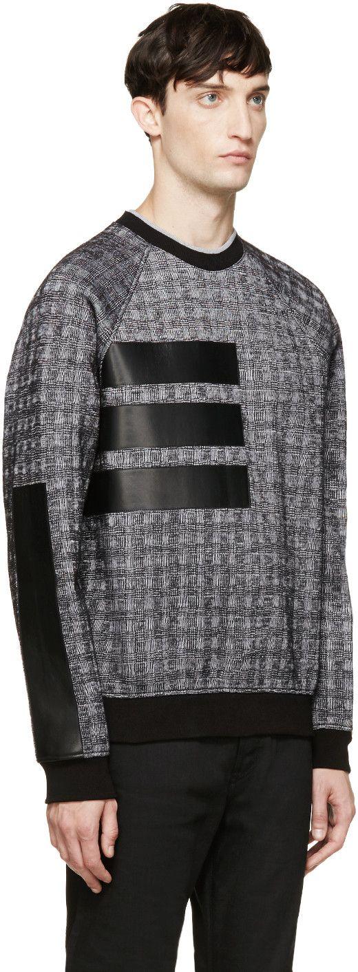 Versace Black Leather Patch Sweatshirt