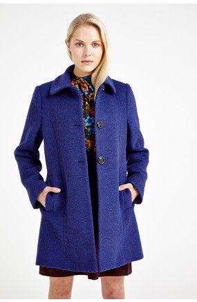 Louche Melania Peter Pan Collar Boucle Coat  £109