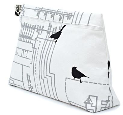 KLO design - handprinted cosmetic bag
