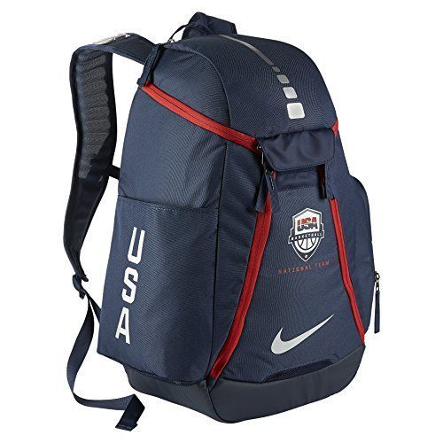 Nike Hoops Elite Max Air 20 Team USA Olympics Basketball Backpack BA5280 Midnight NavyMidnight NavyMetallic Silver -- More info could be found at the image url.