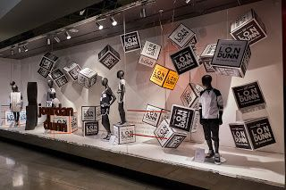 Marks & Spencer - Jourdan Dunn Window Display May 16.