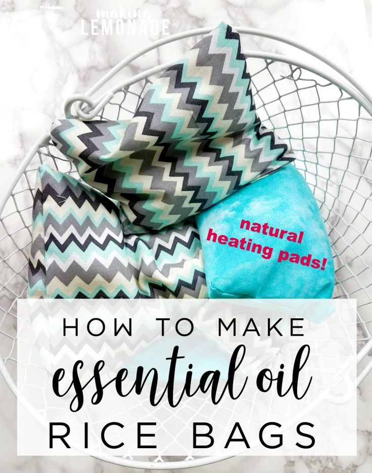 THE BEST essential oils for soothing muscles and providing tension relief, plus a tutorial for How to Make a DIY Aromatherapy Rice Bag!