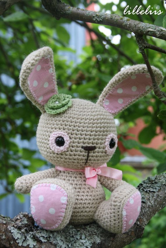 PATTERN  Amigurumi cuties  bunny puppy and teddy by lilleliis, $7.50