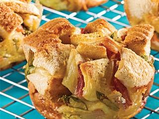 Trio de stratta-muffins