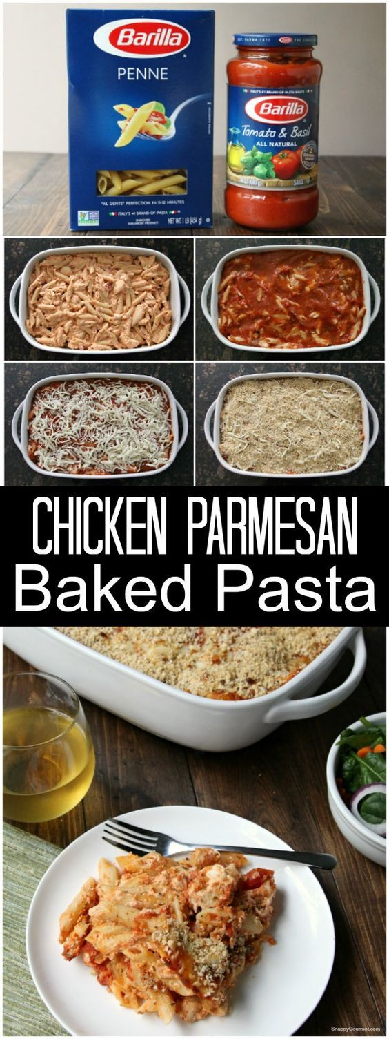 Chicken Parmesan Baked Pasta - an easy casserole recipe perfect for holiday meals and potlucks with @BarillaUs pasta and sauce | SnappyGourmet.com #ad