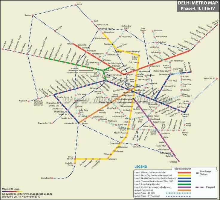 delhi metro rail map pdf