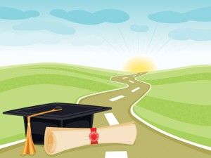The Graduation Way Powerpoint Template Is A Nice
