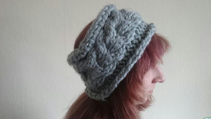 Stirnband Ohrenwärmer grau  Winterstirnband so warm wie eine Mütze. Umfang 56cm. #Winter #Ohrenschutz #Ohrenschützer