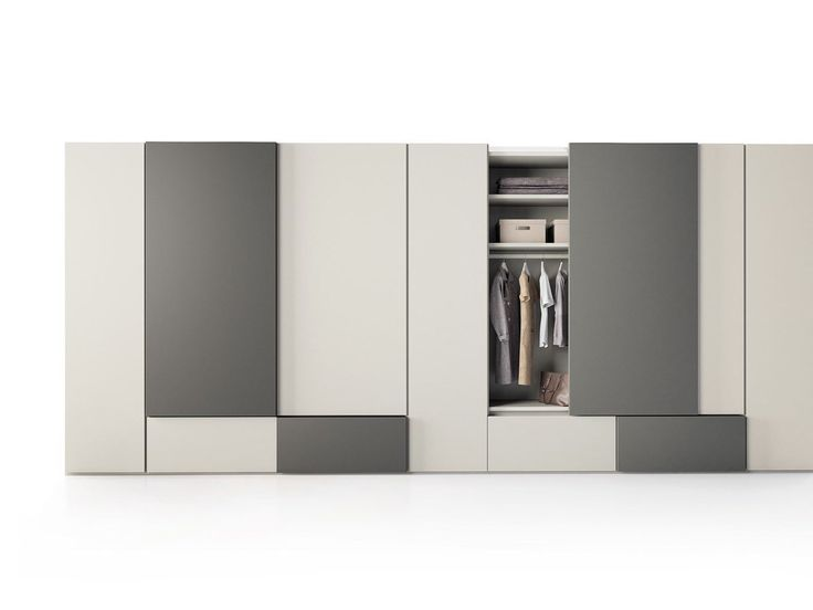 Sectional lacquered wooden wardrobe with sliding doors GRAFIK Swing Collection by Caccaro design Sandi Renko, R