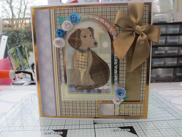Birthday card using Crafters Companion Tweedies CD.