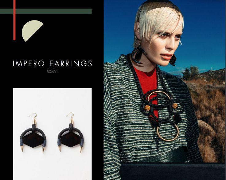 Impero Earrings, Buy online: www.pichulik.com/shop