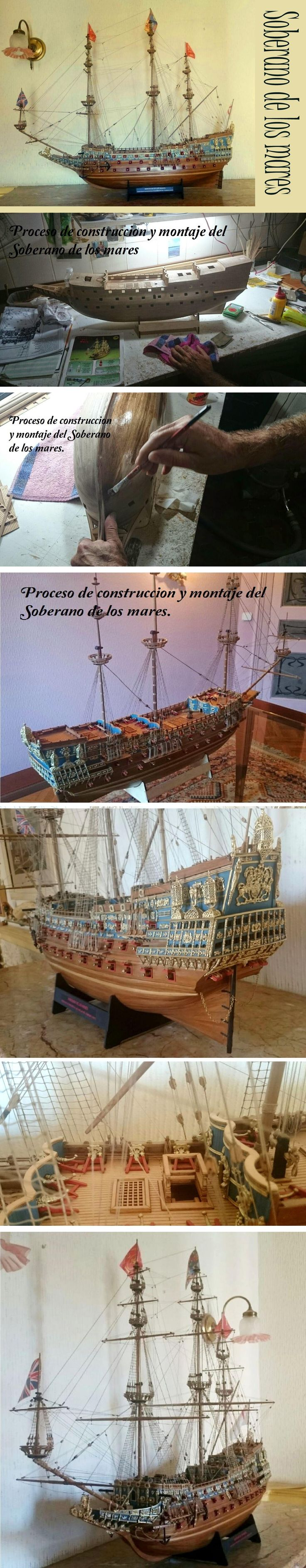 "Maqueta Barco ""El soberano de los mares"". 1:78.Mantua Model MM787 2014-2015 (Sovereign of the Seas).  MARCA Y MODELO: Mantua Model  Modelo MM787 (Italia). Novedad 2014-2015. Modelo solo para expertos. Réplica del famoso Sovereign of the Seas, ""Soberano de los Mares"". Kit de madera cortada a láser. 102 cañones.  ESCALA: 1:78 KIT DE MONTAJE MANTUA MODEL. ESLORA: 1.120 mm. ALTURA: 750 mm (950 mm alto con peana). ANCHO: 450 mm."