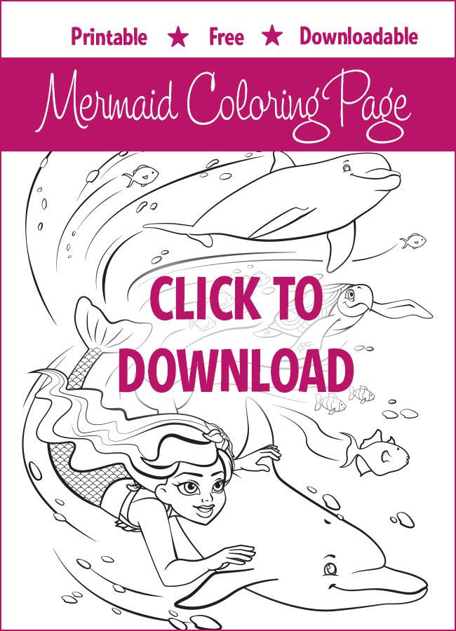9 best Mermaid Coloring Pages images on Pinterest | Meerjungfrauen ...