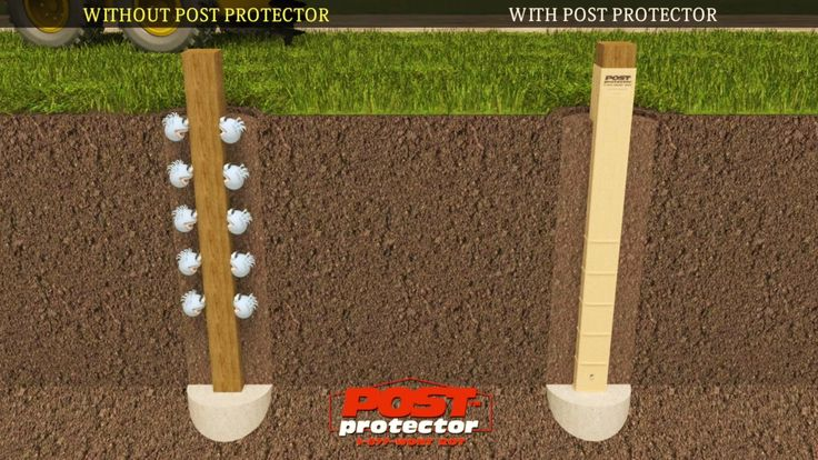 Post Protector Provides Post Decay Rot And Chemical