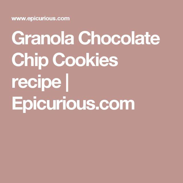 Granola Chocolate Chip Cookies recipe | Epicurious.com