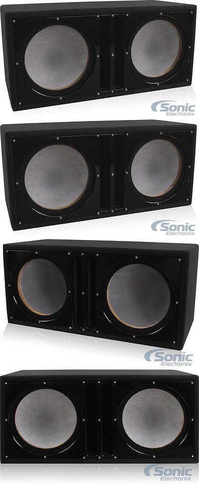 Speaker Sub Enclosures: Belva Bbx210bk Dual 10 Ported Enclosure Custom Subwoofer Box Satin Black Baffle -> BUY IT NOW ONLY: $59.99 on eBay!