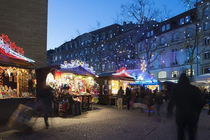 Marché de Noël à Lausanne ©LT/ Yannic Bartolozzi