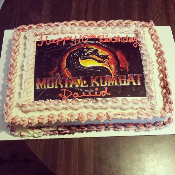 Pictures Of Mortal Kombat Cakes