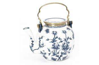 Blue & White Tea Pot available at meizai