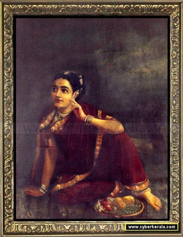 Radha Waiting for Krishna-by Raja Ravi Verma
