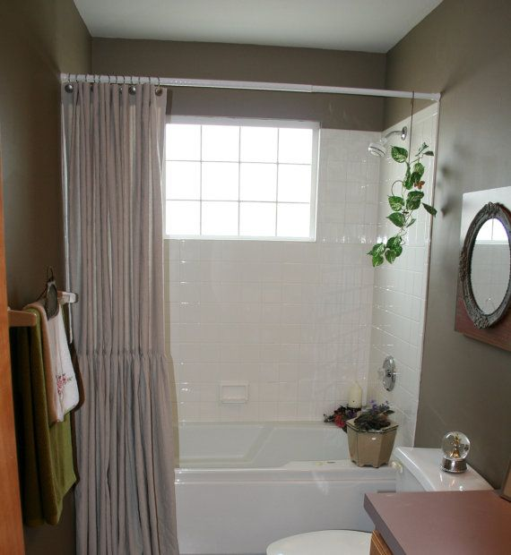 drop cloth shower curtain with by