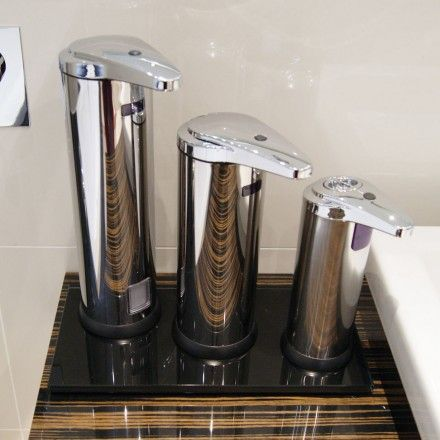Automatic Stainless Steel Free Standing Soap Dispenser | Commercial Washrooms