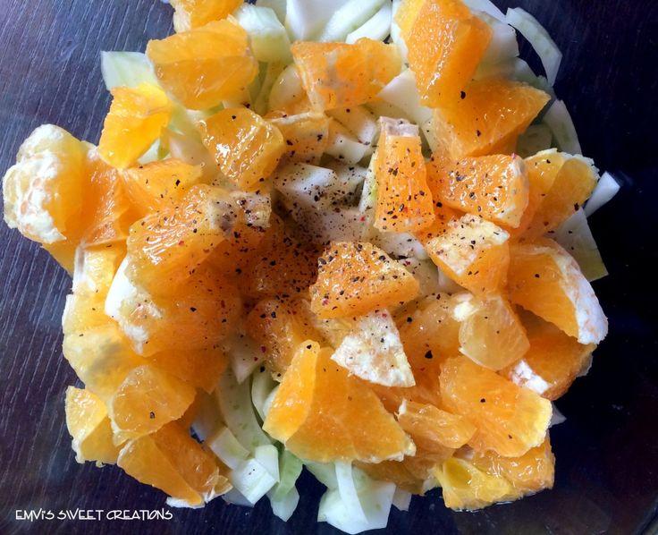 Insalate invernali: finocchio e arancia