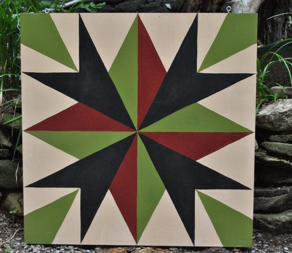 Tennessee Compass on tan background - 2' x 2' hand painted ...
