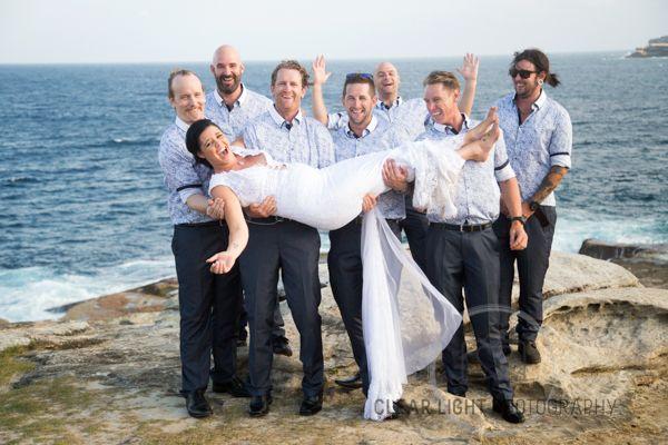Tara & Pauls Sydney Wedding Bride and Groomsmen Love this shot #weddingphotography #weddingaustralia #bride&groom