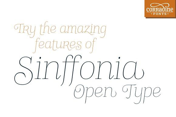 Sinffonia Open Type by Corradine Fonts on @creativemarket