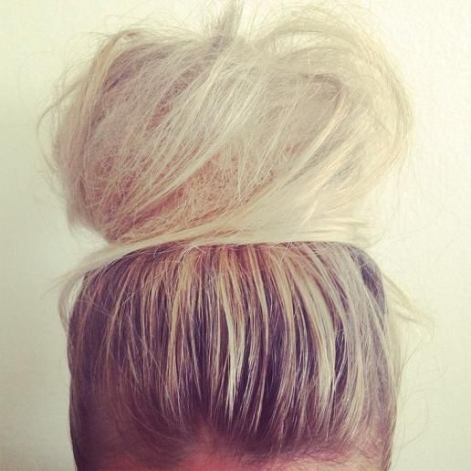 Super cute big puffy bun. Super teased to give it that oompff. #bun #teasedbun