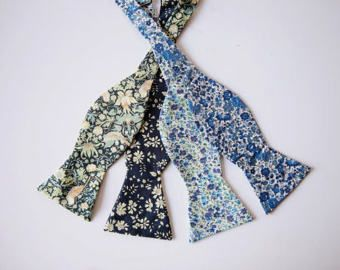 Blue Kid's Bow Tie Liberty of London Kids Bow tie by staghandmade