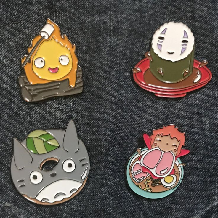 Ghibli food pins