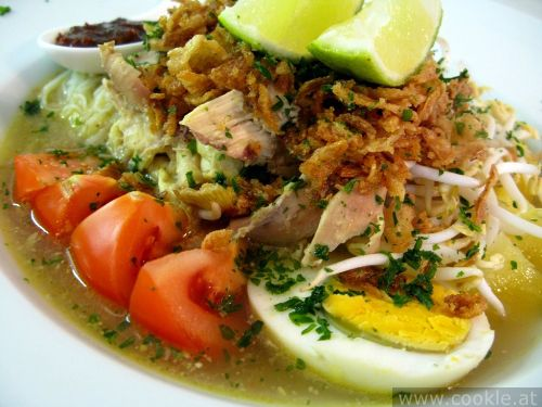 soto ayam. My favorite Indonesian dish that I haven't been able to recreate properly in the USA.